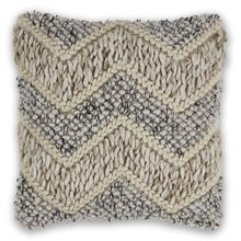 "L340 Beige/grey Elements Pillow 18"" X 18"""
