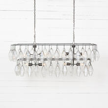Antiqued Iron Finish Adeline Rectangular Chandelier