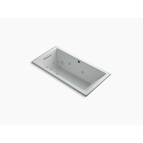 "Ice Grey 60"" X 30"" Heated Whirlpool Bath With Reversible Drain"