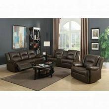 ACME Romulus Sofa (Motion) - 52815 - Espresso Leather-Aire Match