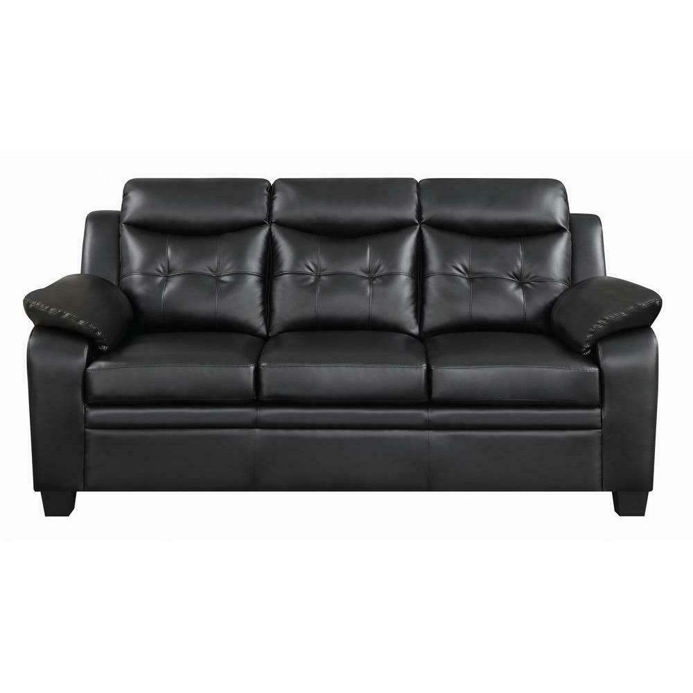Product Image - Finley Casual Black Padded Sofa