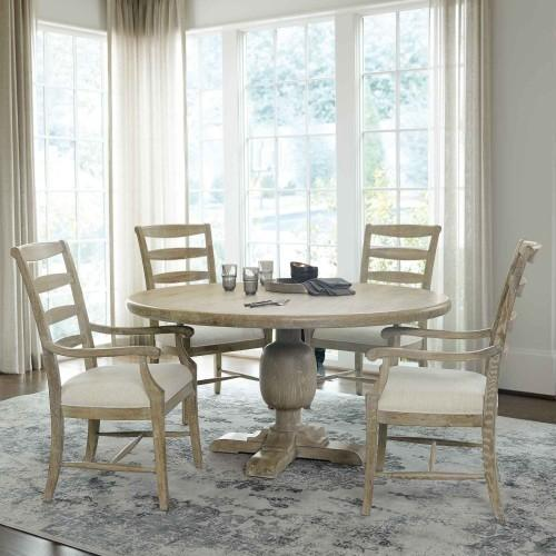 Rustic Patina Round Dining Table in Sand (387)