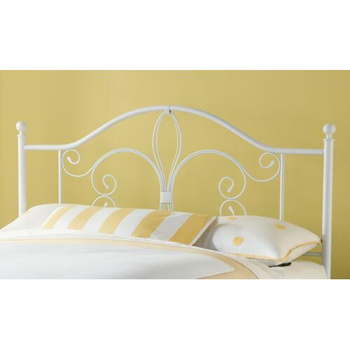 Gallery - Ruby King Metal Bed Without Frame, Textured White