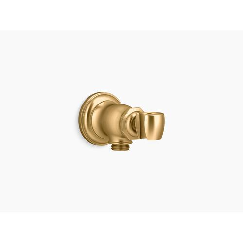 Vibrant Brushed Moderne Brass Handshower Holder
