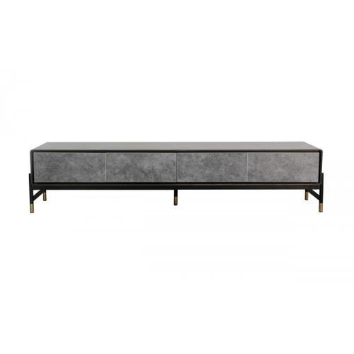 VIG Furniture - Modrest Gabrielle - Contemporary Walnut & Gold TV Stand