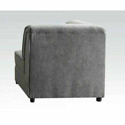 ACME Bois Modular - Wedge & 1 Pillow - 53781 - Gray Velvet