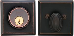 Rectangular Auxiliary Deadbolt Kit in (TB Tuscan Bronze, Lacquered) Product Image