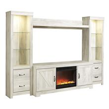 Bellaby 5 Piece Entertainment Set W/ Fireplace Insert Whitewash