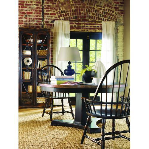 Hooker Furniture - Sanctuary Two-Door Thin Display Cabinet - Ebony