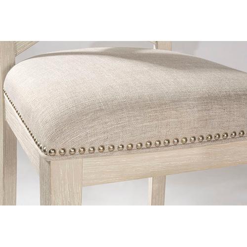 Gallery - Bayview Wood X-back Non-swivel Counter Stool - White Wirebrush