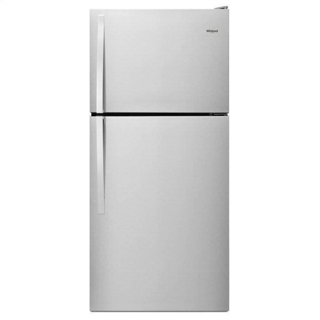 Whirlpool 30-inch Wide Top Freezer Refrigerator - 18 cu. ft. Monochromatic Stainless Steel