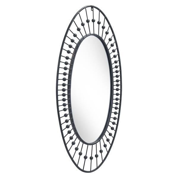 See Details - Cusp Oval Mirror Black