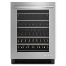 """See Details - Euro-Style 24"""" Under Counter Wine Cellar Stainless Steel"""