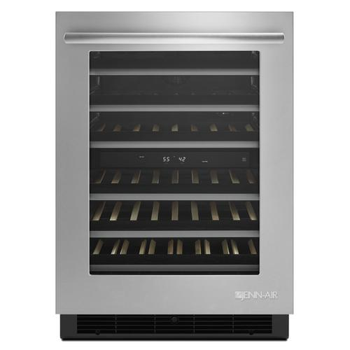 """Product Image - Euro-Style 24"""" Under Counter Wine Cellar Stainless Steel"""