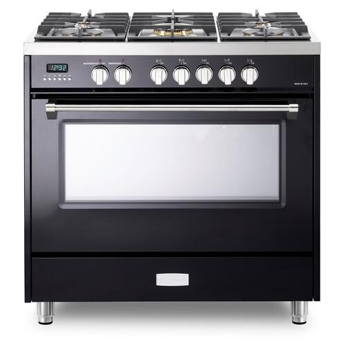 "Verona - Gloss Black 36"" Dual Fuel - Designer Series"