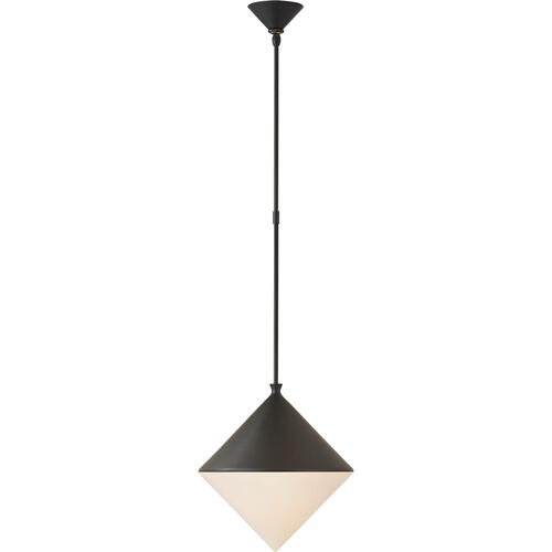 AERIN Sarnen LED 15 inch Matte Black Pendant Ceiling Light, Medium