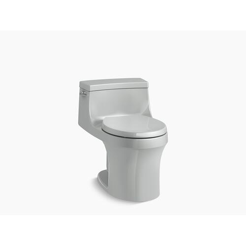 Ice Grey One-piece Round-front 1.28 Gpf Toilet With Slow Close Seat