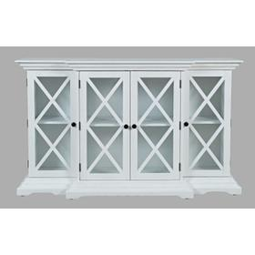 Carrington Small Breakfront Cabinet - White