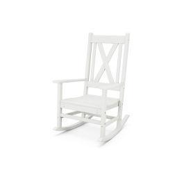 Polywood Furnishings - Braxton Porch Rocking Chair in Vintage White