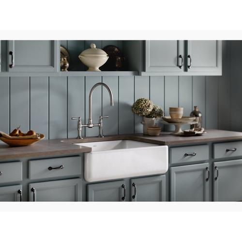 "Sea Salt 29-11/16"" X 21-9/16"" X 9-5/8"" Undermount Single-bowl Farmhouse Kitchen Sink"
