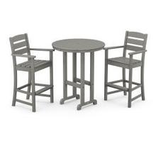 View Product - Lakeside 3-Piece Round Bar Arm Chair Set in Slate Grey