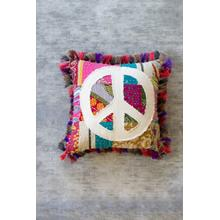 See Details - Peace Kantha Pillow