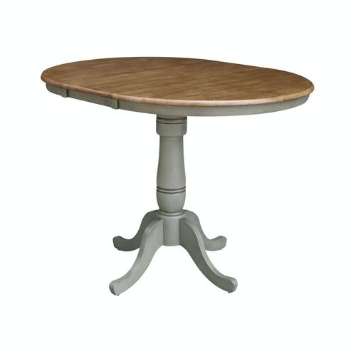 Product Image - Round Extension Table in Hickory/Stone