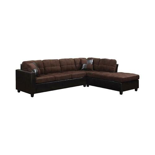 Product Image - Mallory Casual Chocolate Sectional