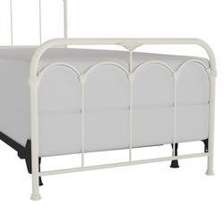 Jocelyn Twin Metal Bed, Textured White