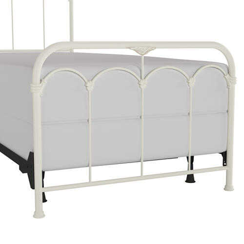 Jocelyn Twin Metal Bed, Textured White