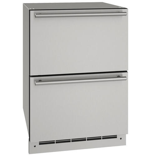 """24"""" Refrigerator Drawers With Stainless Solid Finish (115 V/60 Hz Volts /60 Hz Hz)"""