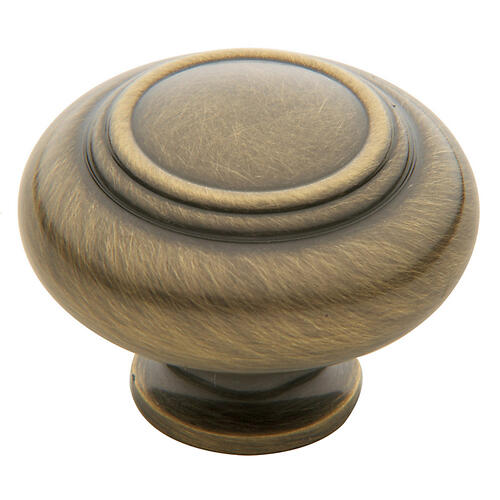 Satin Brass and Black Ring Deco Knob