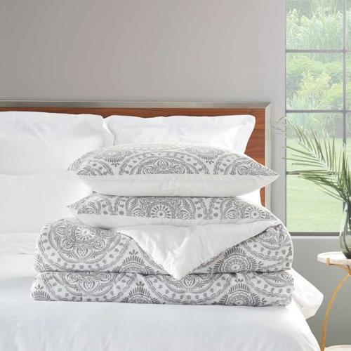 Dreamscape Dsc03 Grey Full/queen 3-piece Bed Set
