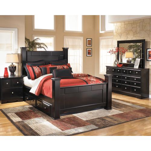 Signature Design By Ashley - Shay - Almost Black 6 Piece Bedroom Set