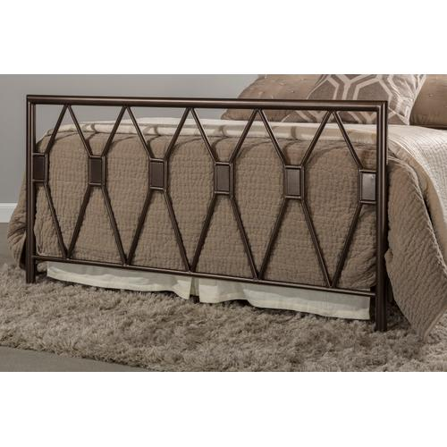 Tripoli Queen Bed, Metallic Brown