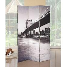 ACME Trudy 3-Panel Room Divider - 98017 - Bridge Scenery