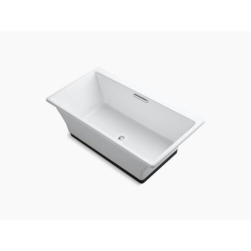 "White 67"" X 36"" Freestanding Bath With Brilliant Ash Base"