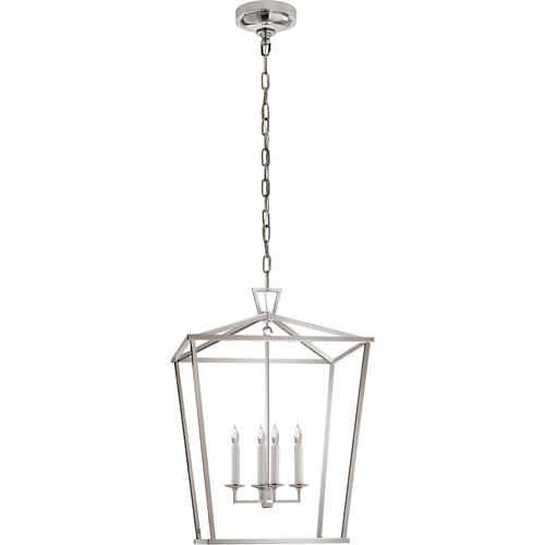 E. F. Chapman Darlana 4 Light 17 inch Polished Nickel Foyer Lantern Ceiling Light