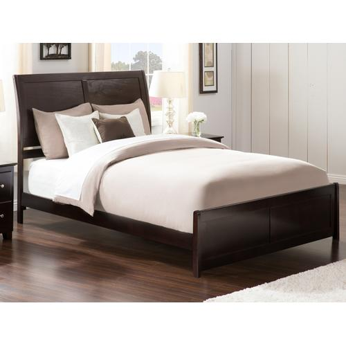 Portland Queen Bed with Matching Foot Board in Espresso