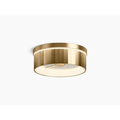 Modern Brushed Gold Flush-mount LED Light