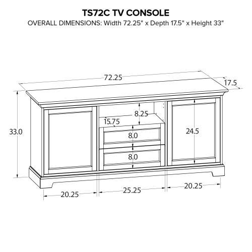 TS72C Custom TV Console