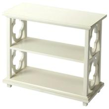See Details - With its open quatrefoil sides, two shelves and open back , this timeless and traditional classic bookcase brings heirloom appeal to the office or living room.