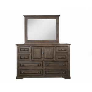 Dresser \u0026 Mirror - Autumn Cherry Finish