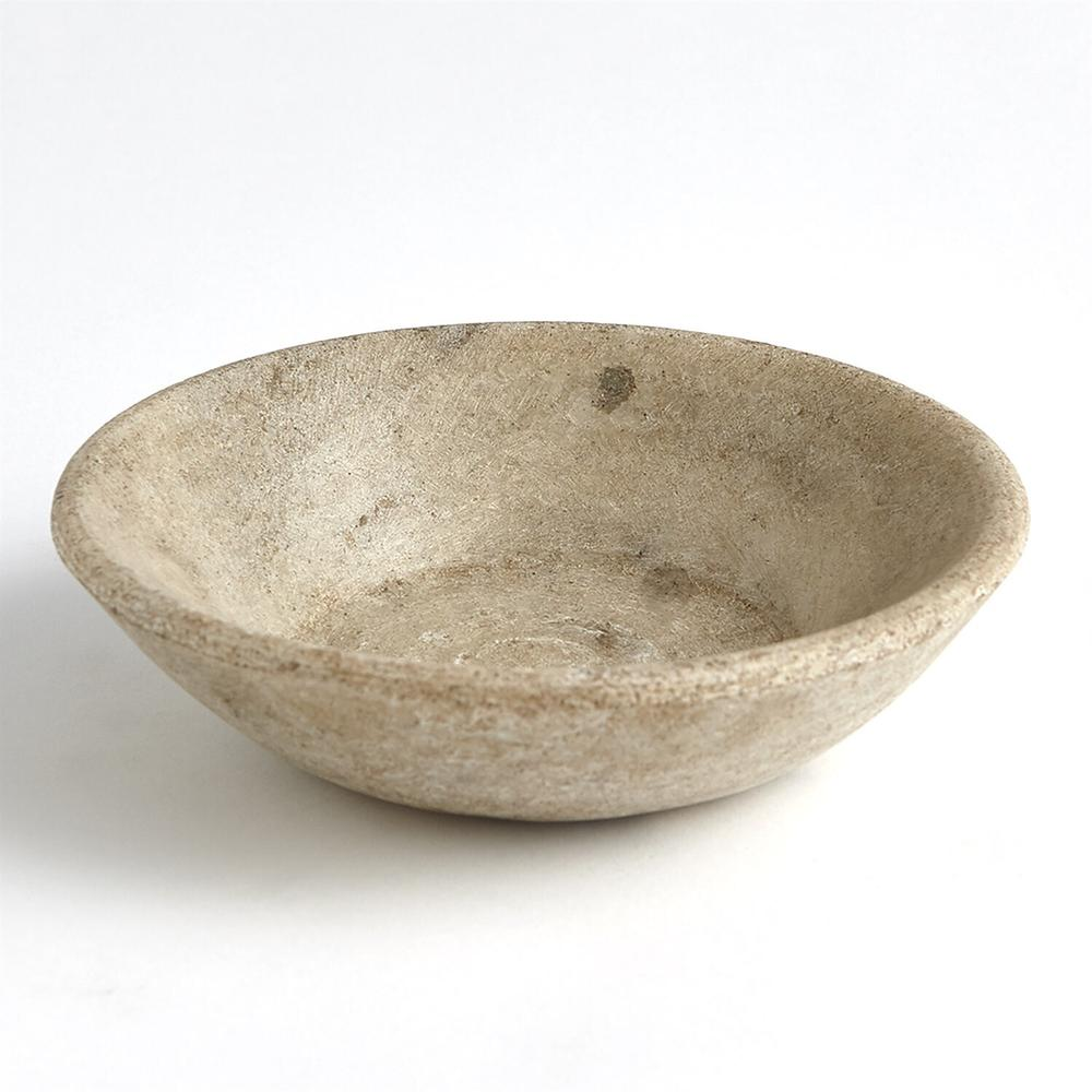 See Details - Marble Bowl-Antiqued White