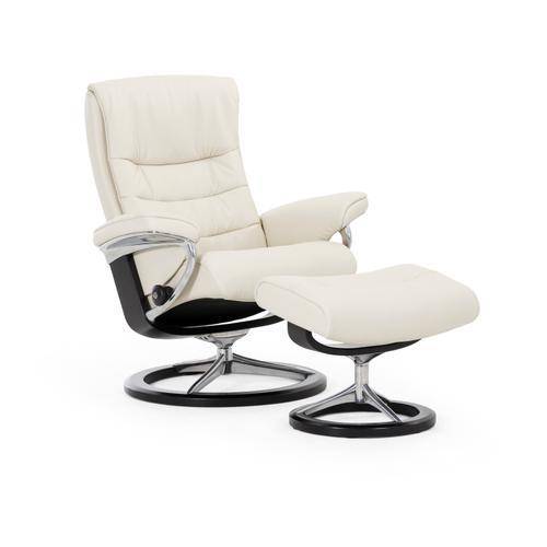 Stressless By Ekornes - Stressless Nordic Large Signature Base Chair and Ottoman