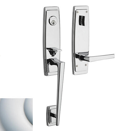 Satin Chrome Palm Springs 3/4 Escutcheon Handleset