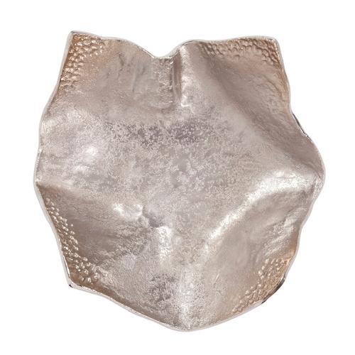 Howard Elliott - Aluminum Champagne Silver Hammered Small Bowl
