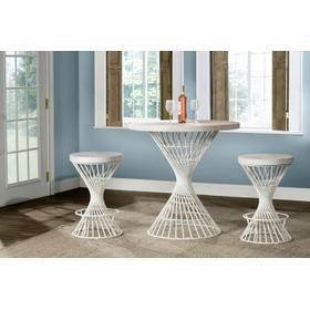 Kanister 3pc Counter Height Dining Set - White