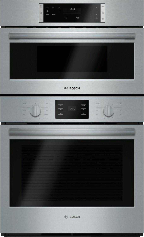 "Bosch500 Series, 30"" Combo, Upper: Microwave, Lower: Eu Conv, Knob Control"