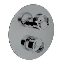 Eclissi Pressure Balance Trim with Diverter - Polished Chrome with Circular Handle
